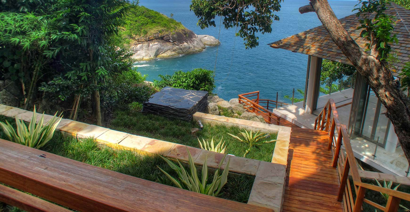 Villa Minh - Wooden stairway and magnificent view